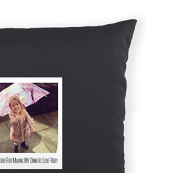 Personalised Polaroid Photo Cushion with Message