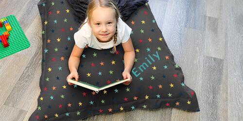 rainbow stars pattern bean bag