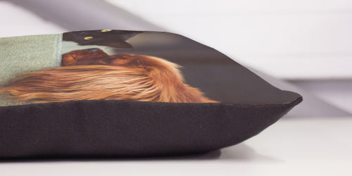 Close up of photo cushions