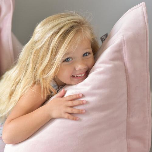 Baby Pink Velvet Beanbag