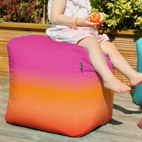 Pink Paradise Bean Bag Cube