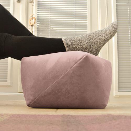 Rose Pink Velvet Footstool