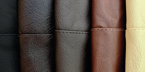 Real Leather swatches close up