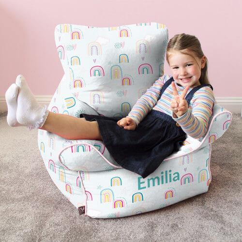 Rainbow Sky Kids Beanbag Chair