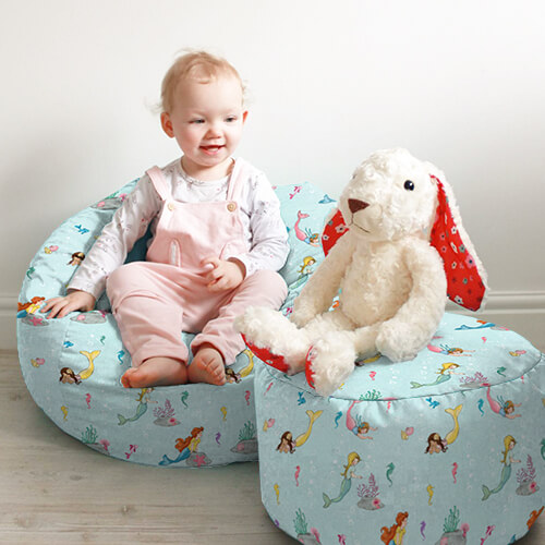 Belle & Boo Mermaid Play Kids Stool