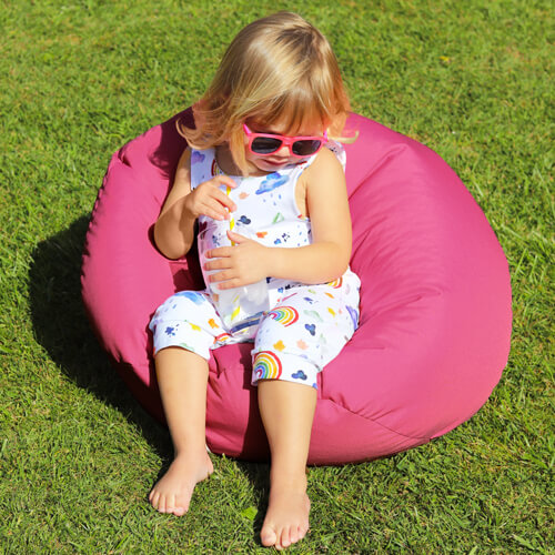 Small Kids Beanbag Outdoors