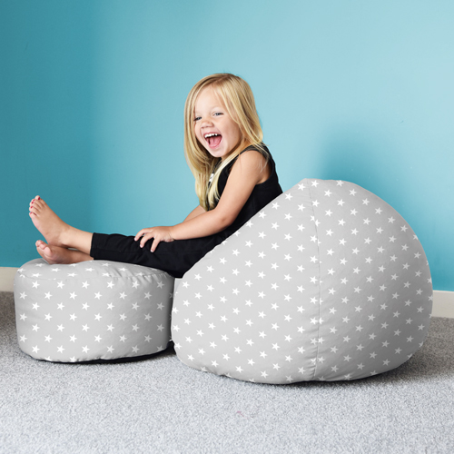 Children using the stars bean bag in a playroom