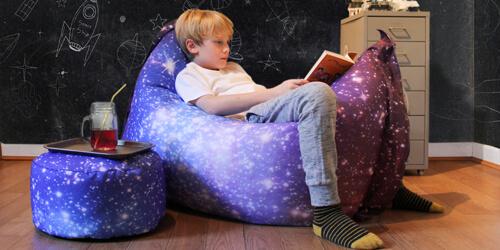 Space Galaxy kids stool