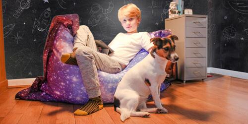 Junior Space Galaxy Beanbag