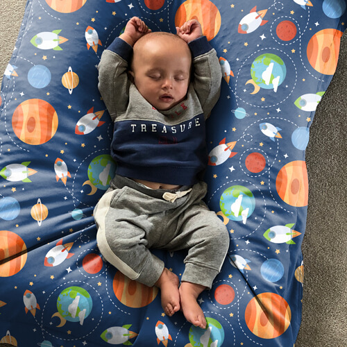 Outer Space Kids Squarbie Bean Bag