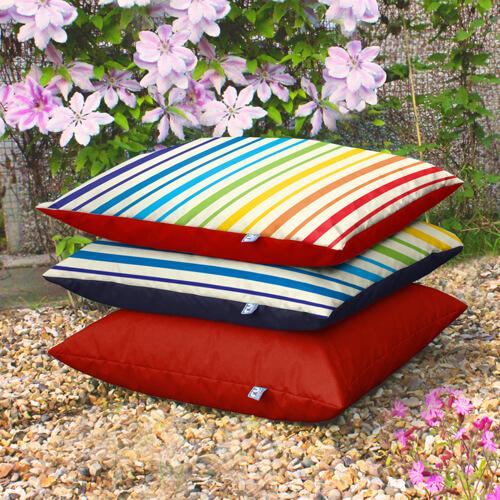 Rainbow Stripe Outdoor Floor Cushions