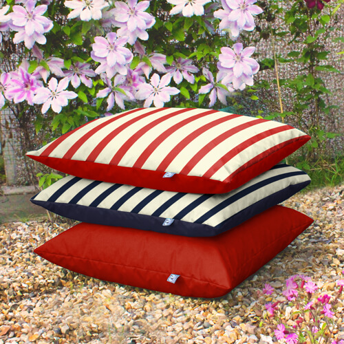 Stack of Outdoor Floor Cushions