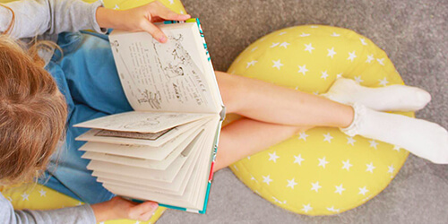 Stars beanbag with matching stars footstool