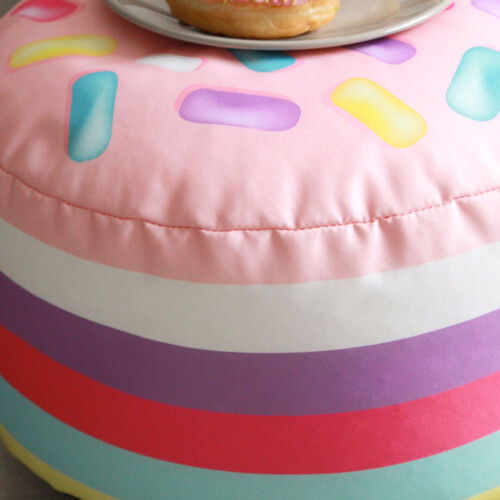 Donut Hole Kids Stool close up