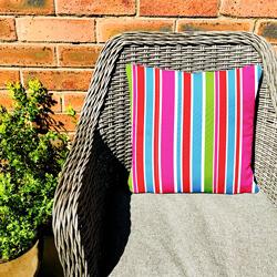 Summer Stripes Cushion Outside