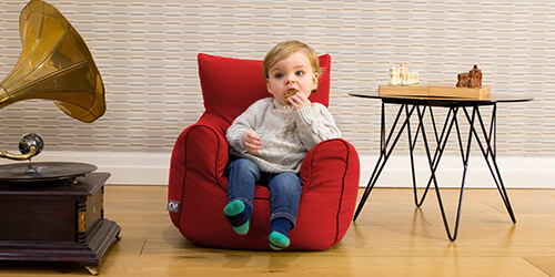 Red toddler beanbag armchair