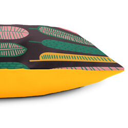 Tropical Leaf cushion side view