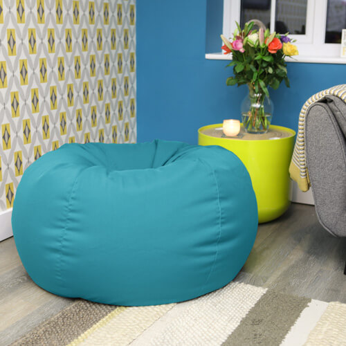 Outdoor beanbag used indoors
