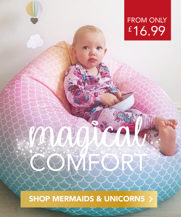 Mermaid and Unicorn Kids Bean Bags