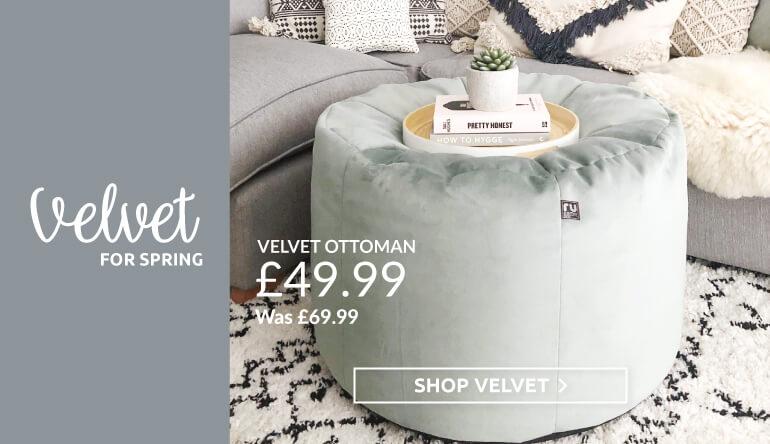 Velvet Ottoman