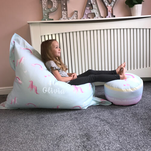 Surprising Unicorn Squashy Squarbie Beanbag Junior Machost Co Dining Chair Design Ideas Machostcouk