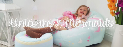 Unicorn & Mermaid Beanbags