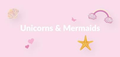 Unicorn and Mermaid Beanbags