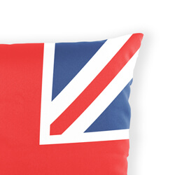 Union jack cushion close up