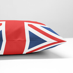 Union jack cushion side view