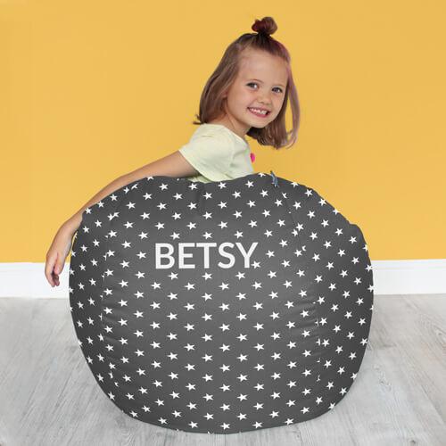 Stars bean bag personalisation