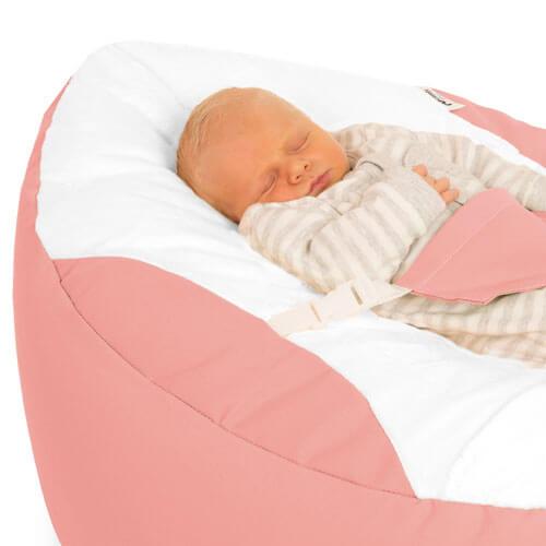 Coral Pink Baby Beanbag