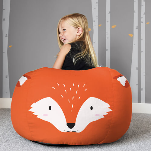 Trio of Woodland Animal Beanbags - Small rucomfy beanbags