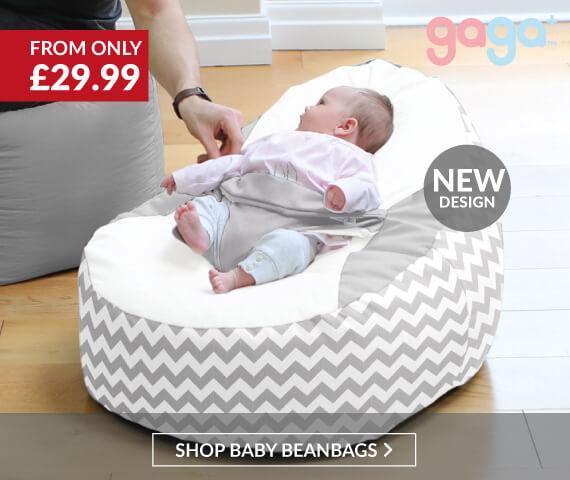 NEW Chevron Gaga Baby Beanbag