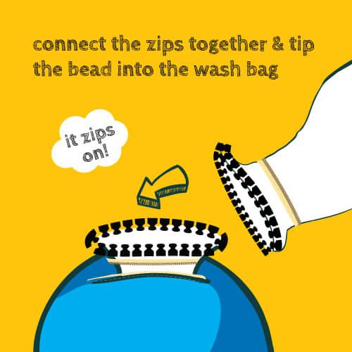 beanbag wash bag step two