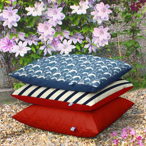 Wave print Floor Cushion Indoors