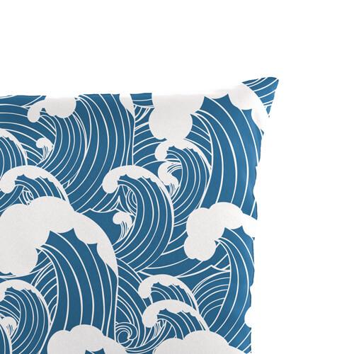 Wave Print Cushion