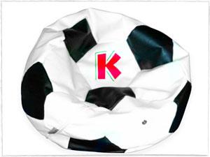 K Branded Football Beanbag