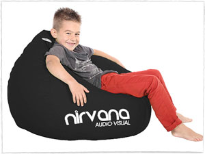 Nirvana Audio Visual Branded Beanbags
