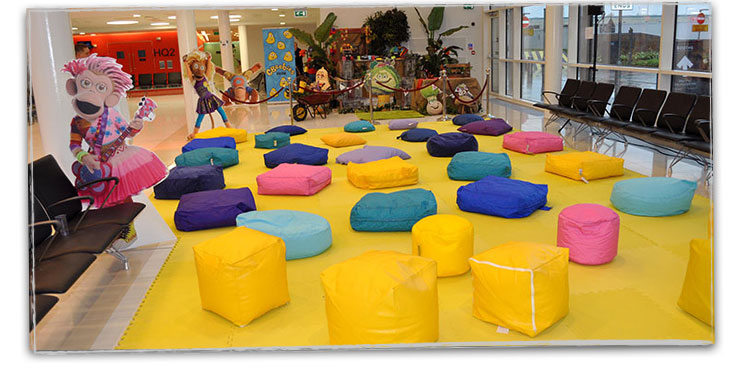 CBeebies 10th Birthday Hired Bean Bags