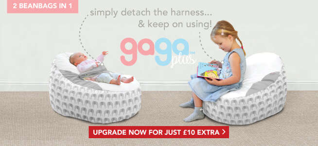 Upgrade to the Gaga Plus Baby to Junior Beanbag