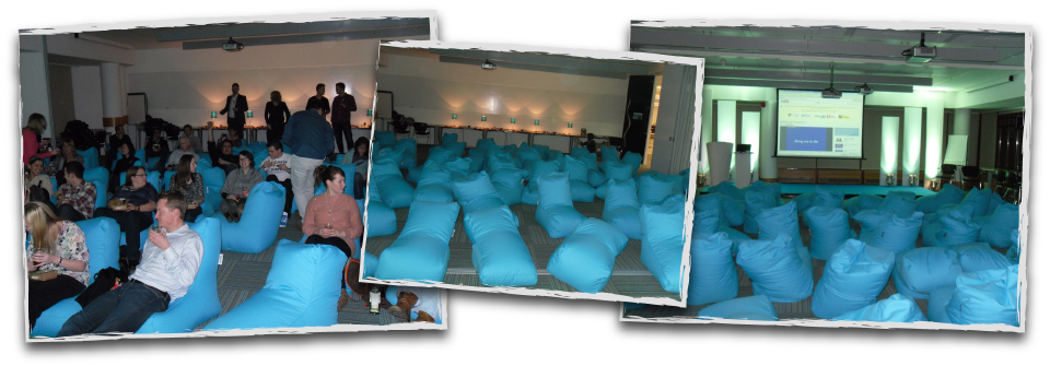 Hired Solo Chairs Bean Bag Event