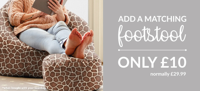 Why not add a footstool to your beanbag for just £10