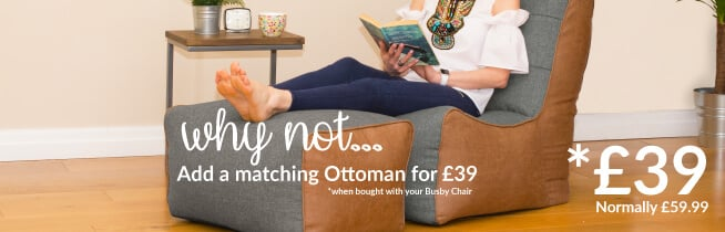 Why not add a matching ottoman to your Busby Chair