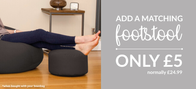 Why not add a footstool to your beanbag for five pounds