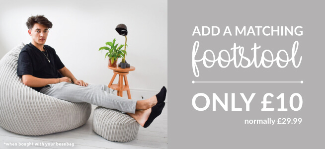 Why not add a footstool to your beanbag for a tenner