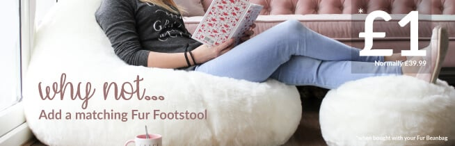 Why not add a footstool to your beanbag for £1