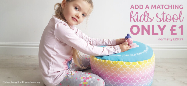 Add a matching Mermaid Ombre Kids Stool