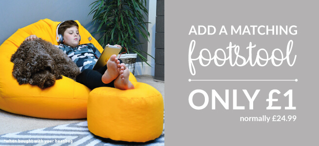 Why not add a footstool to your beanbag for a pound