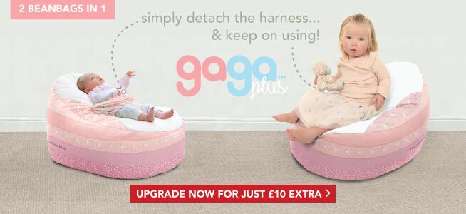 Upgrade to the Gaga Plus Baby to Junior Beanbag