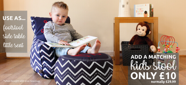 Why not add a kids stool to your Bean Bag for just ten pounds